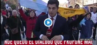 LIBERTAD DE EXPRESIÓN – Régimen | Fanáticos fascistas agreden a colegas de C5N.