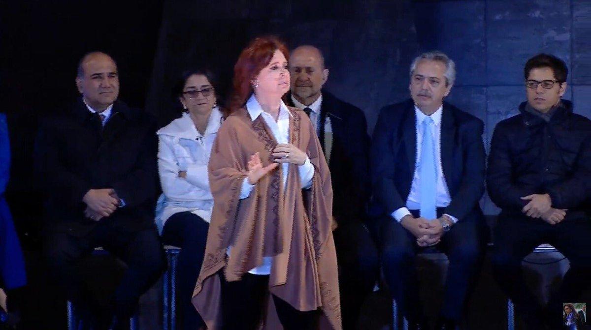 Cristina Fernández en el cierre en Rosario,