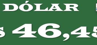 ECONOMÍA – Régimen | El dólar cerró a $ 45,55 pero solo se consigue a $ 46,45.