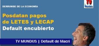 TV MUNDUS – Noticias 280 | Macri declara el default en forma disimulada