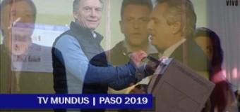 ELECCIONES 2019 – PASO | Recuento definitivo. El Frente de Todos le sacó 4,1 millones de votos de ventaja al macrismo.