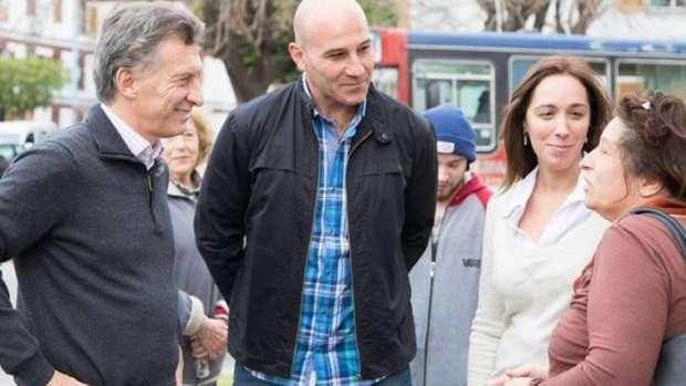 Mauricio Macri, Martiniano Molina y María Vidal.