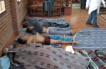 Muertos en represiones callejeras y domiciliarias de la dictadura boliviana.