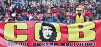 REGIÓN – GOLPE DE ESTADO EN BOLIVIA | La Central Obrera Boliviana (COB) da un plazo de 24 horas para normalización institucional.