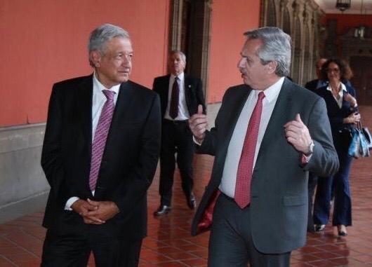 Andrés Manuel López Obrados y Alberto Fernández. Hubo coincidencias ideológicas y nace una nueva alianza regional.