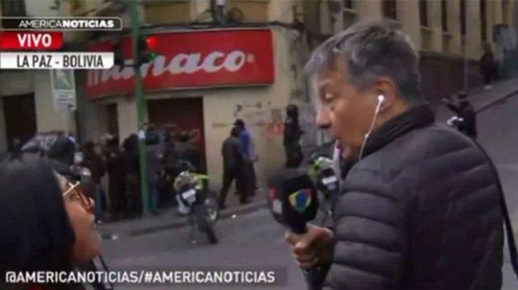Rolando Graña, de América TV, amenazado por fascistas.