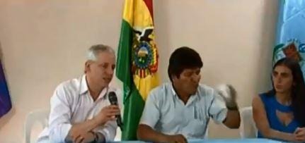 García Linares y Evo Morales