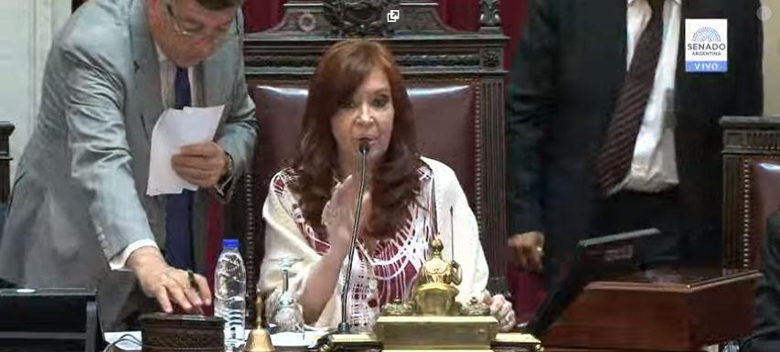 Cristina Fernández, Vicepresidenta dela Nación.
