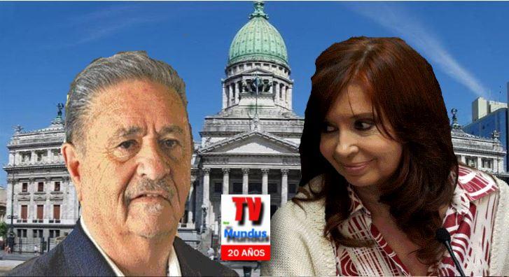 Eduardo Duhalde y Cristina Fernández.