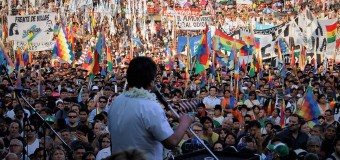 REGIÓN – Bolivia | Multitudinario acto de Evo Morales en la Ciudad de Buenos Aires.
