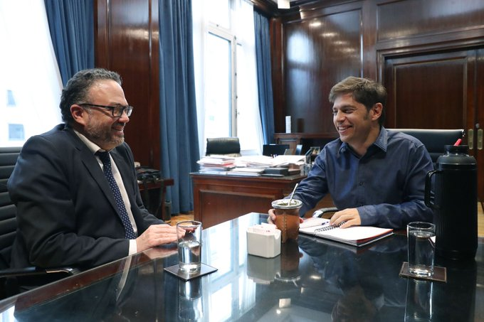 Matías Kulfas (Ministro de Producción de la Nación) con el Gobernador Axel Kicillof.