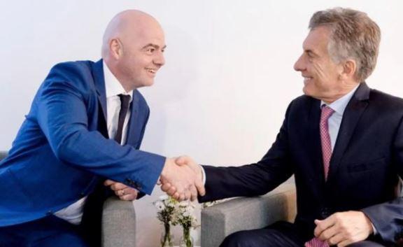 Infantino y Macri en la corrupta FIFA.