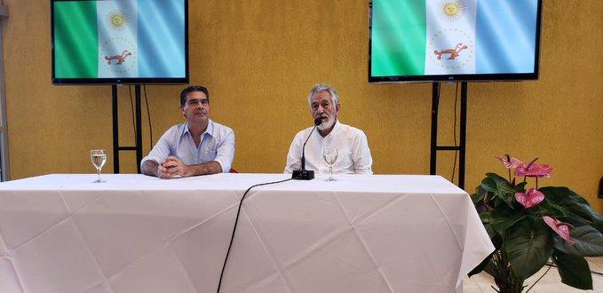 Gobernadores Jorge Capitanich y Alberto Rodríguez Saá.