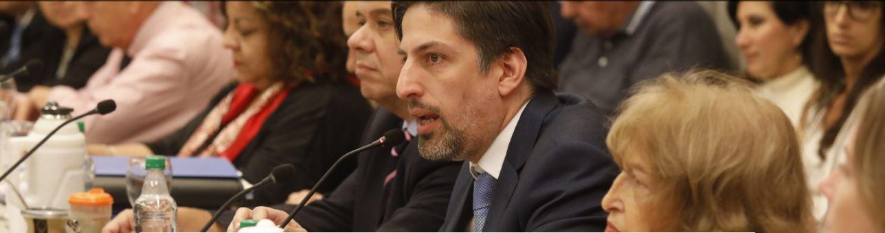 El Ministro de Educación Nicolás Trotta .