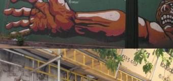 DERECHOS HUMANOS – CABA | Destruyeron en CABA un mural que recordaba a los muertos en Trelew.
