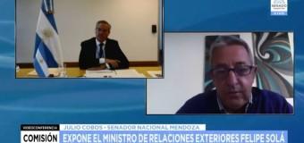 TV EN DIRECTO – Senado | El Ministro Solá expone ante la Comisión de la Cámara Alta
