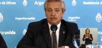 CORONAVIRUS – Curantena | El Presidente Alberto Fernández dijo que se prolonga la cuarentena y se pondrá atención en los focos.