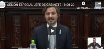 TV en VIVO | Santiago Cafiero expone en el Senado.