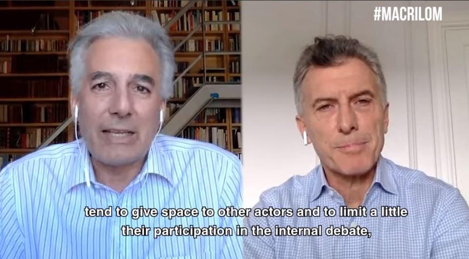 Macri en conversación con Álvaro Vargas Llosa en el sitio nazi LaOtraMirada.