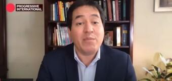 INTERNACIONAL PROGRESISTA 2020 | Andrés Aráuz advirtió que la derecha quiere terminar con la democracia en Ecuador.