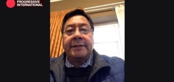 INTERNACIONAL PROGRESISTA 2020 | Luis Arce invitó a recuperar la democracia en Bolivia.
