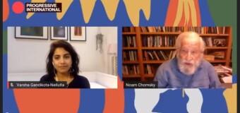 INTERNACIONAL PROGRESISTA 2020 | Chomsky advirtió sobre un mundo injusto.