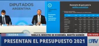 ECONOMÍA – Diputados | El Ministro de Economía Martín Guzmán defendió el Presupuesto 2021.