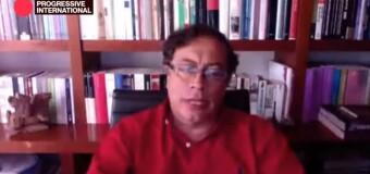 INTERNACIONAL PROGRESISTA 2020 | Gustavo Petro culpó al capitalismo por el cambio climático que puede extinguir la vida humana.