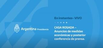 TV en VIVO |  Importantes anuncios en Economía y Agricultura en Argentina