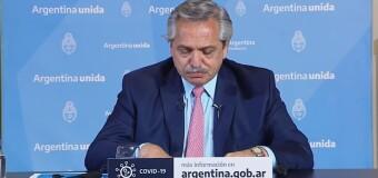 CORONAVIRUS – Argentina | El Presidente Fernández advierte que la pandemia sigue y que ahora está en el interior.