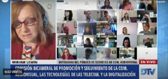 TV DIFERIDO – Medios | Miriam Levin hizo su presentación ante la Comisión Bicameral de las Comunicaciones.