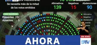 TV en Directo |  Diputados aprobó el Presupuesto Nacional 2021
