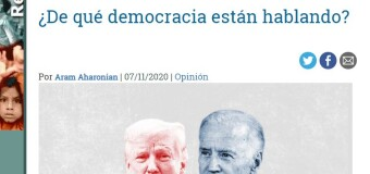 MUNDO – Estados Unidos | Aram Aharonian duda que Estados Unidos sea una democracia.