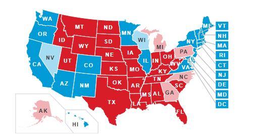 La paridad en electores es muy grande. Biden tiene 238 y Trump 213. Faltan cuatro Estados y deben tener 270 para ganar.