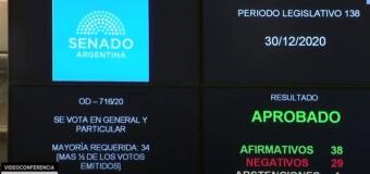 CONGRESO – Senado | Argentina dio un gran paso. La interrupción voluntaria del embarazo (IVE) es Ley.