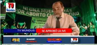 TV MUNDUS – Noticias 328 |  En la madrugada el Senado aprobó la IVE