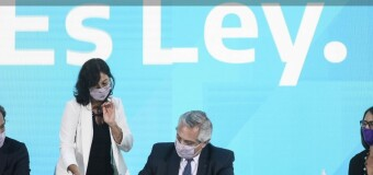 DERECHOS – IVE | El Presidente Fernández promulgó la Interrupción Voluntaria del Embarazo.