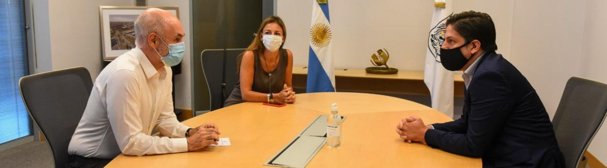 Horacio Rodríguez Larreta, Soledad Acuña y Nicolás Trotta.