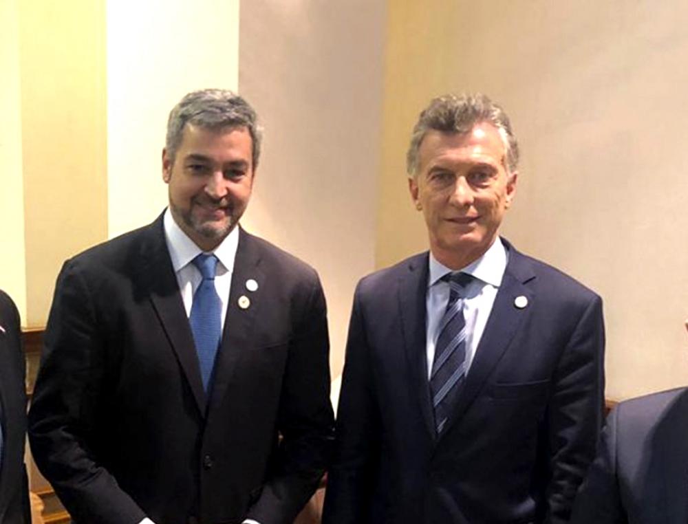 Abdo Benítez es amigo de Mauricio Macri.