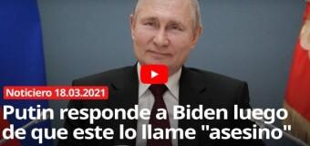 MUNDO – Rusia/EE.UU. | Putin respondió las barbaridades de Biden.