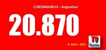 CORONAVIRUS – Argentina | Las clases presenciales fogonean los 20.870 contagios del día récord. Explotan Buenos Aires, Córdoba y la CABA.
