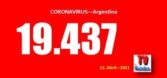 CORONAVIRUS – Argentina | Argentina enfrenta el crecimiento de la segunda ola. 19.437 casos nuevos con COVID.