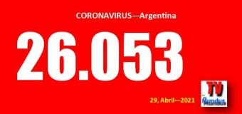 CORONAVIRUS – Argentina | Aumenta la cantidad de fallecimientos por COVID y se mantiene muy alto el promedio de contagios.