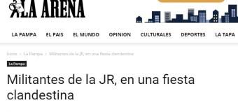 ARGENTINA – La Pampa | En plena ola de COVID la Juventud Radical organizó una fiesta clandestina.