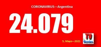 CORONAVIRUS – Argentina | Se mantienen altos los contagios y se dispara la cantidad de muertos. Santa Fé y CABA cada vez peor.
