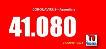 CORONAVIRUS – Argentina | Argentina alcanzó el récord de 41.080 contagios en un día.