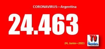 CORONAVIRUS – Argentina | Mientras ya hay 25 millones de vacunas los contagios de COVID no ceden.