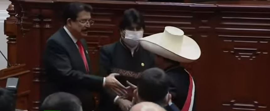 Emanuel Zelaya, Evo Morales y Pedro Castillo.