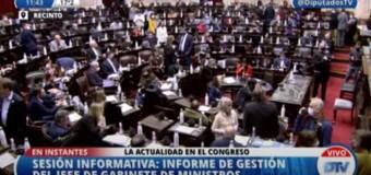 TV DIFERIDO – Diputados | El Jefe de Gabinete Nacional Santiago Cafiero expuso ante la Cámara de Diputados de la Nación.