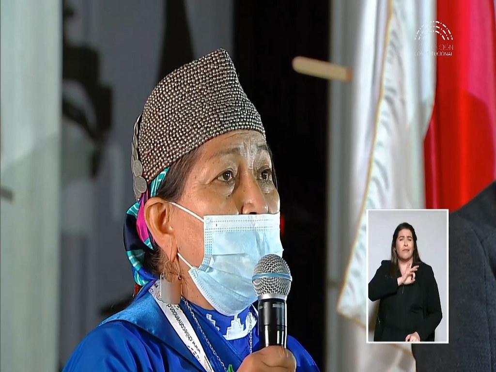 Dra Lonco, Presidenta de la Asamblea Constituyente en Chie.